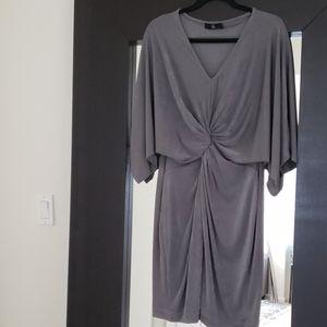 Twist Front Kimono Sleeve Dress